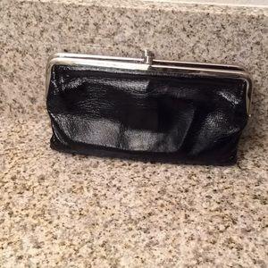 Hobo International Black Patent Lauren Wallet